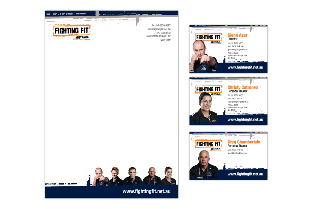 Fighting Fit Corporate Stationery