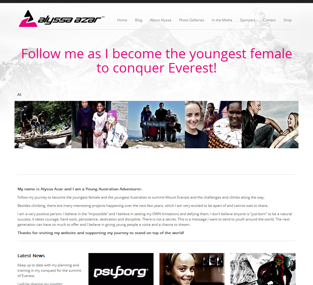Alyssa Azar Website