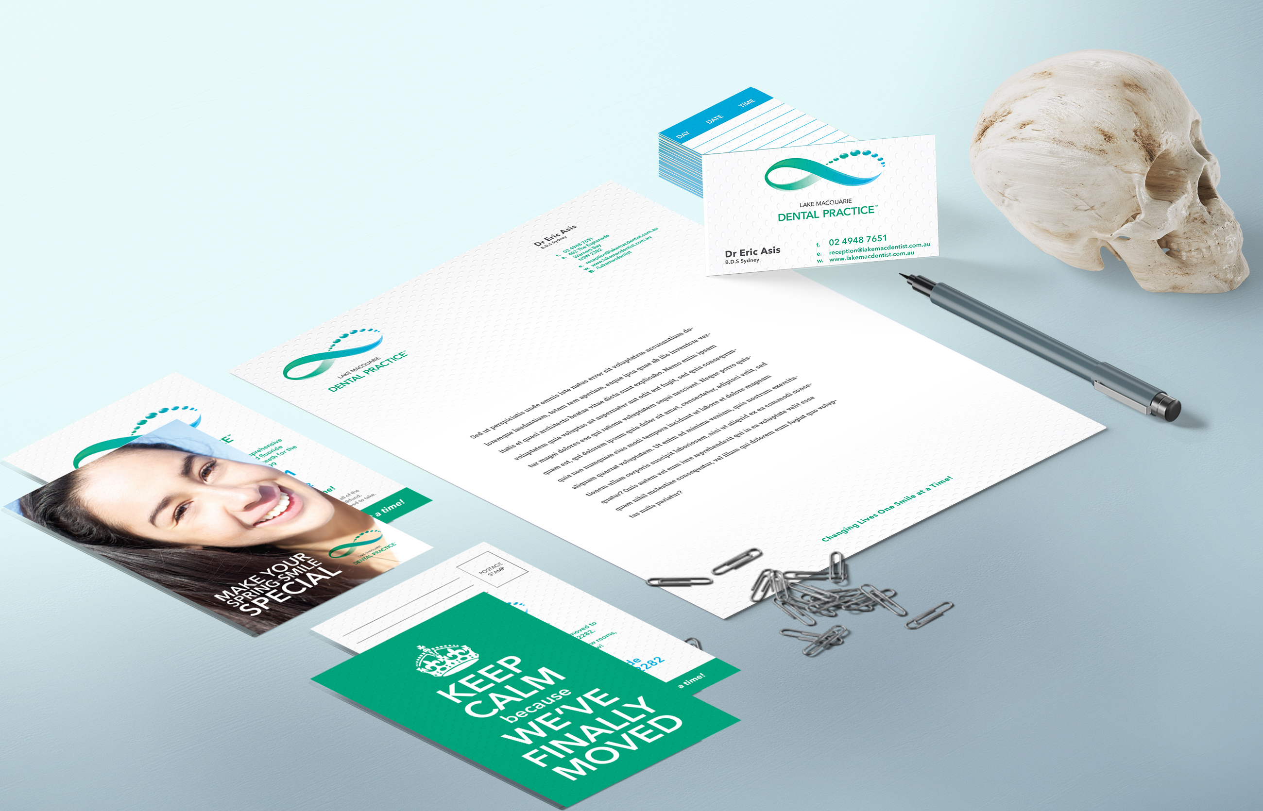 Lake Macquarie Dental Practice Stationery