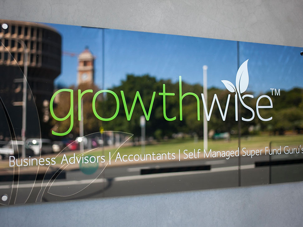 Growthwise Entry Sign