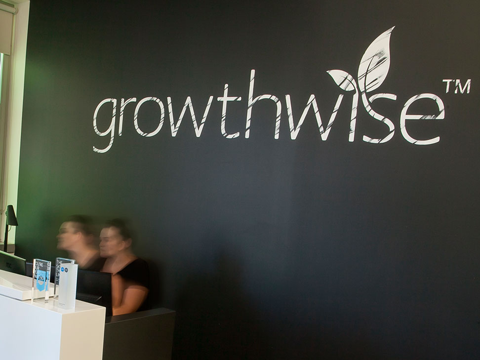 Growthwise Reception Signage