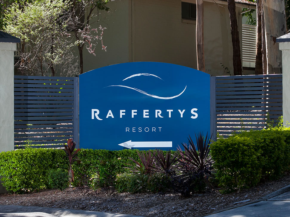 Raffertys Resort Entry Sign