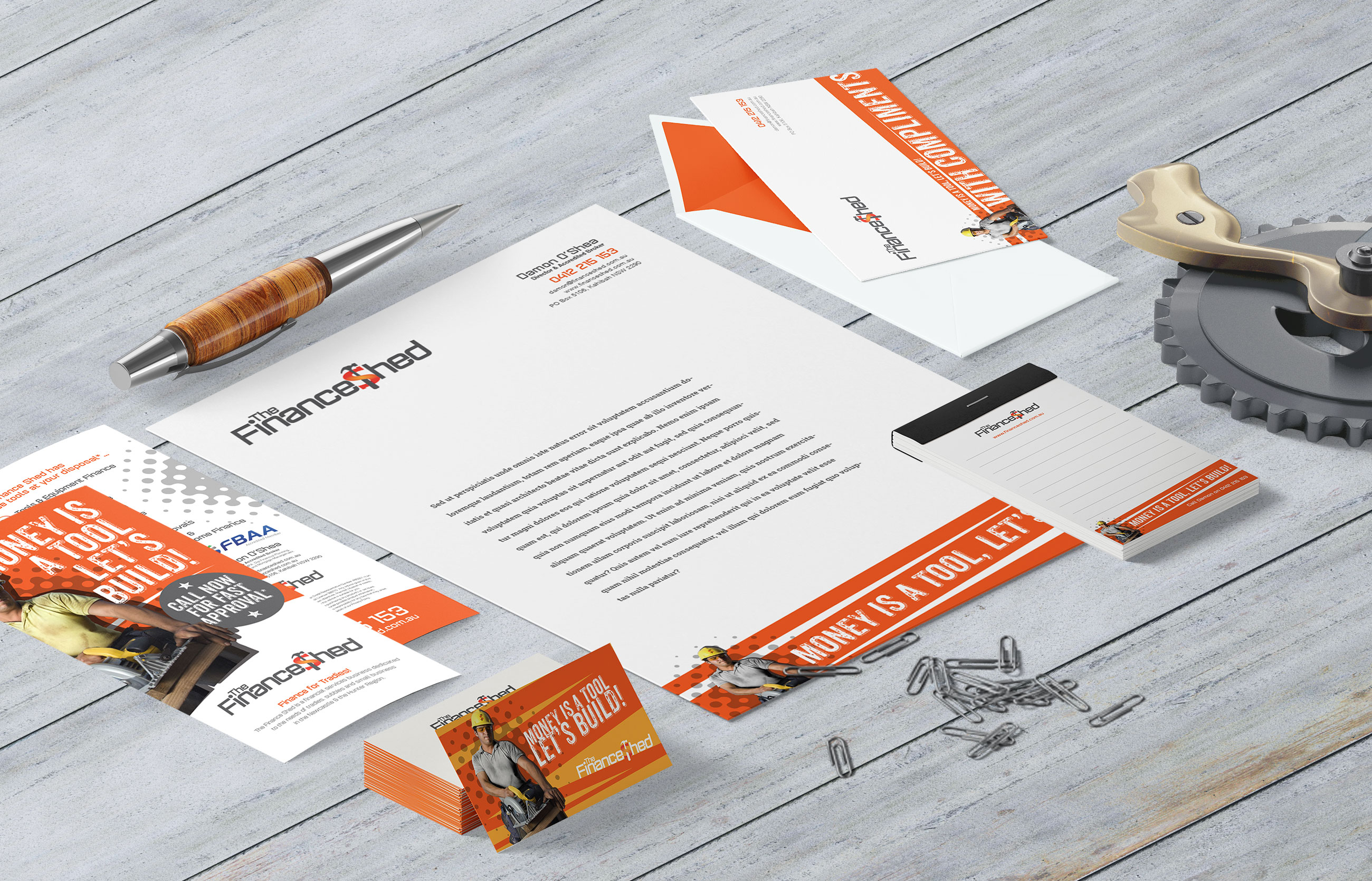 Finance Shed Stationery