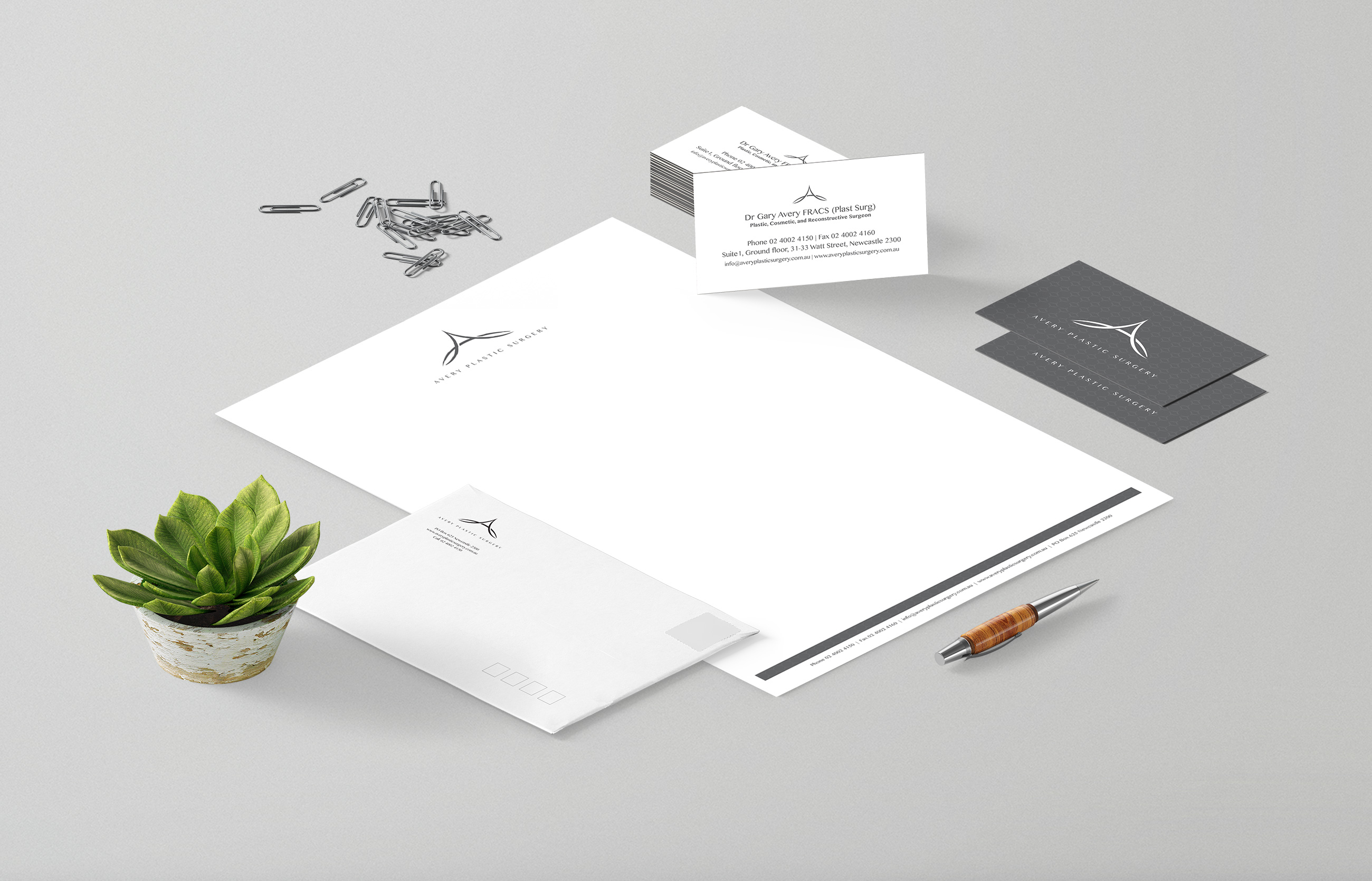 Avery Plastic Surgery Stationery