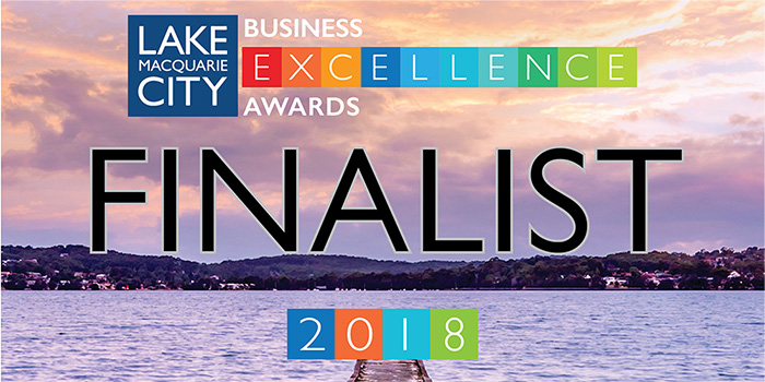 We're Finalists for Lake Macquarie City Business Excellence Awards