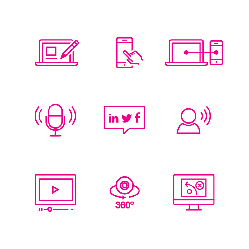 Vicinity Marketing Service Icons