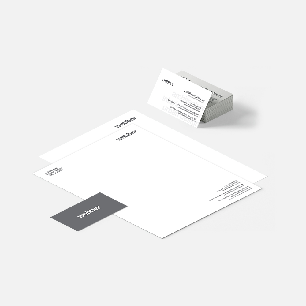 Webber Architects Brand Stationery