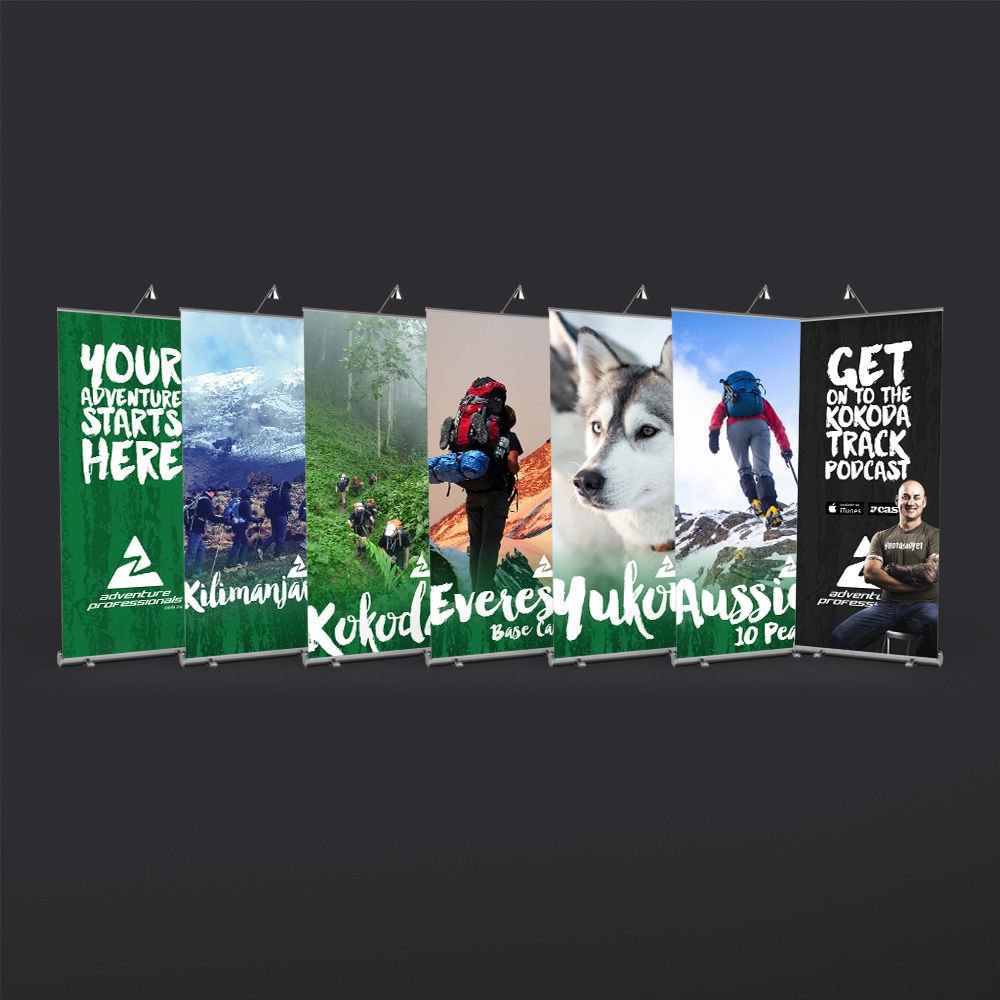Adventure Professionals Pull-up Banners