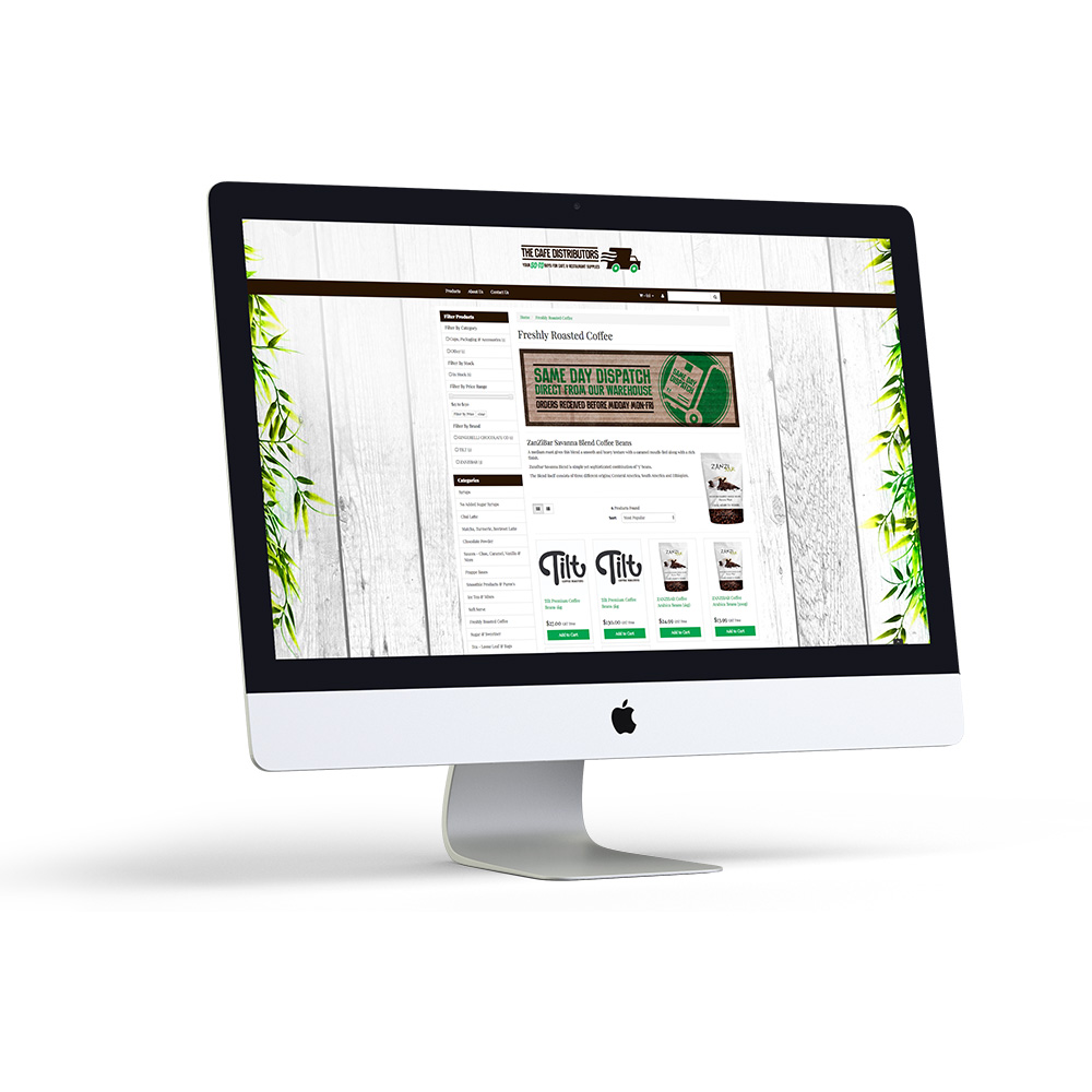 The Cafe Distributors Website
