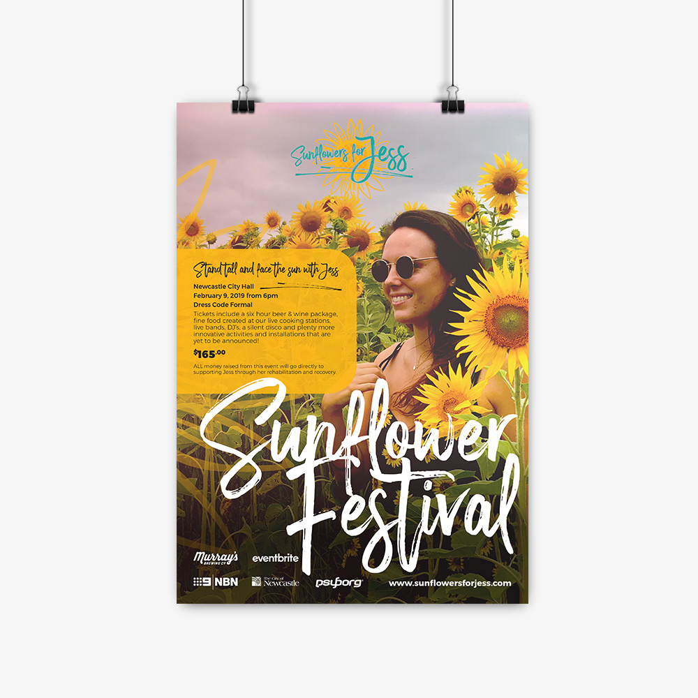 Sunflowers for Jess Poster