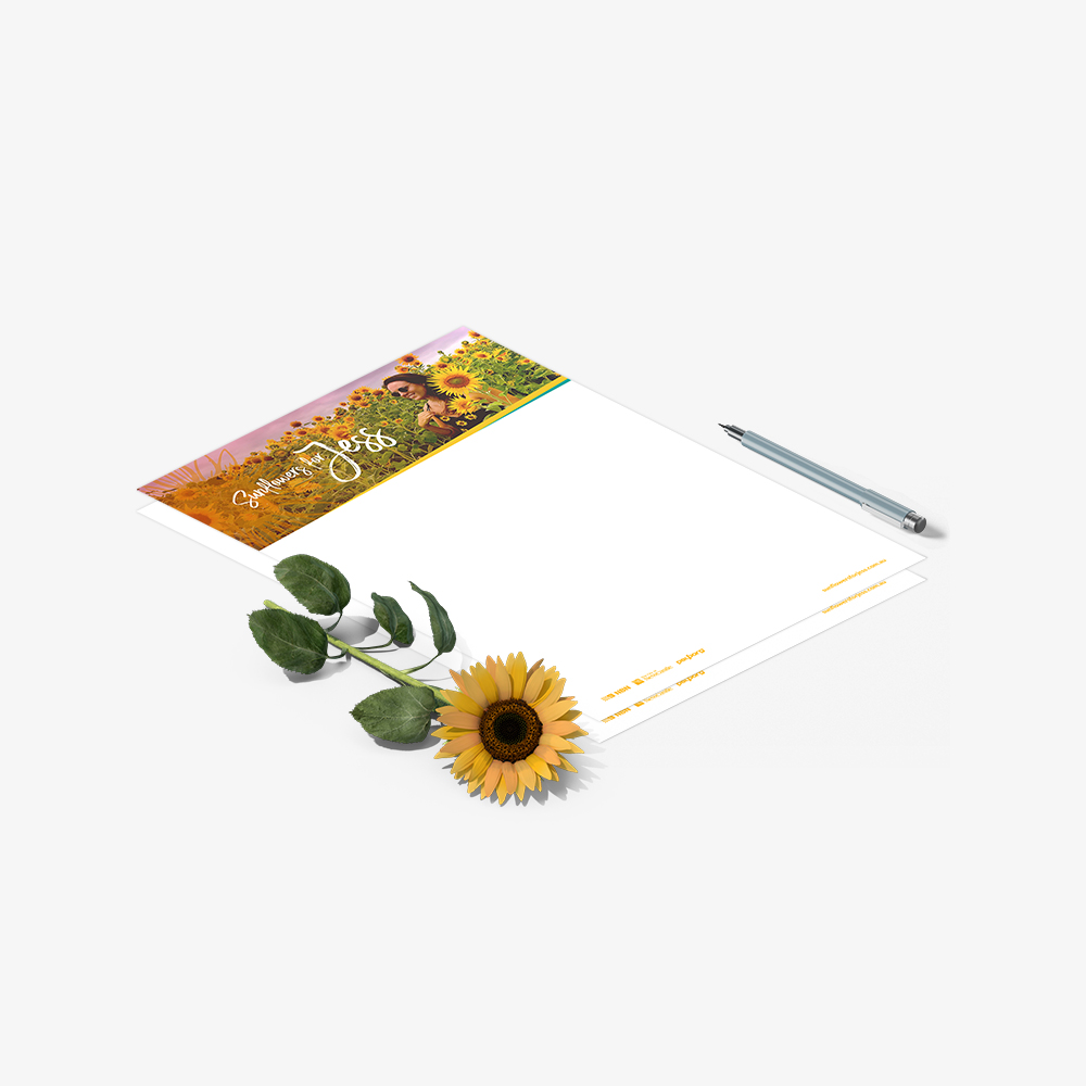 Sunflowers for Jess Stationery