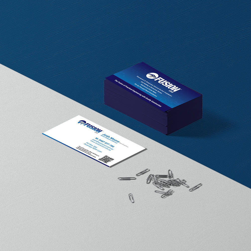 Fusion Civil Business Cards