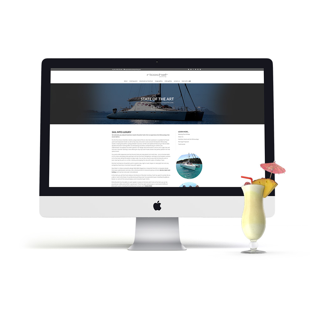 Ricochet Yachting Website