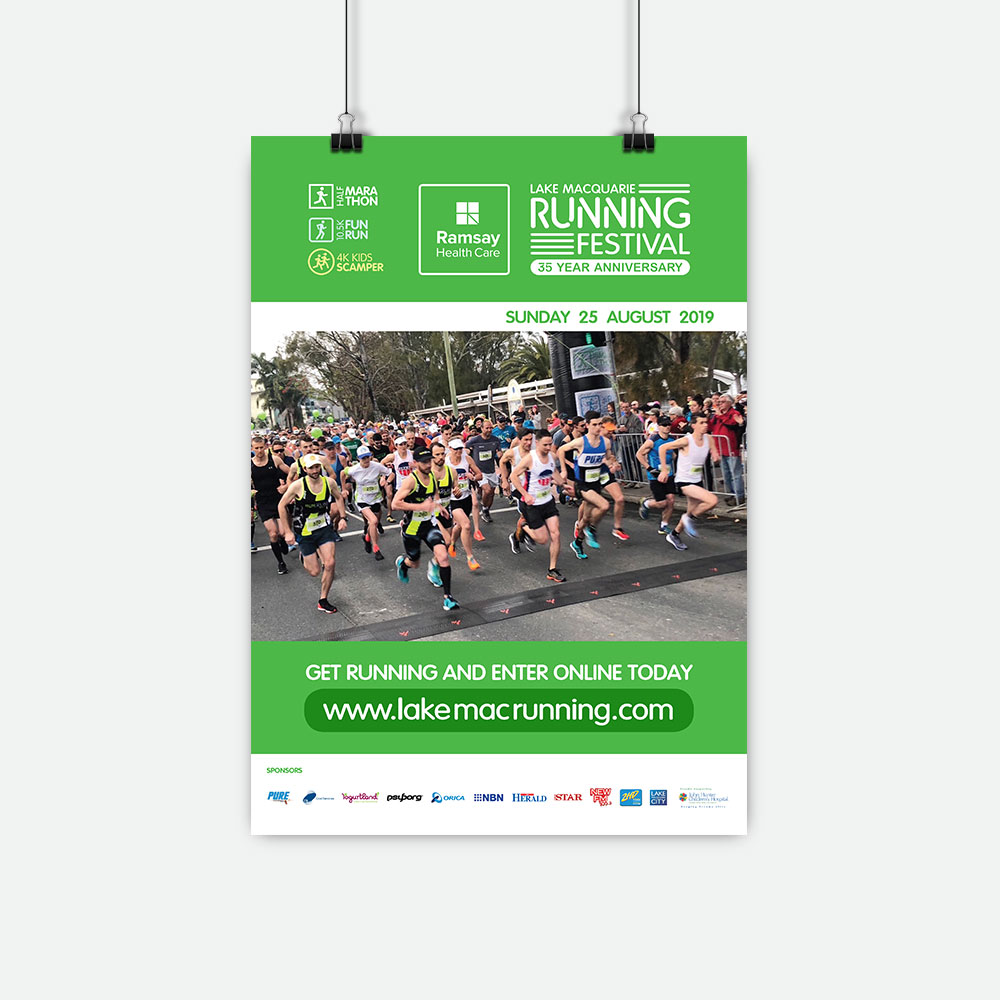 Lake Macquarie Running Festival Posters