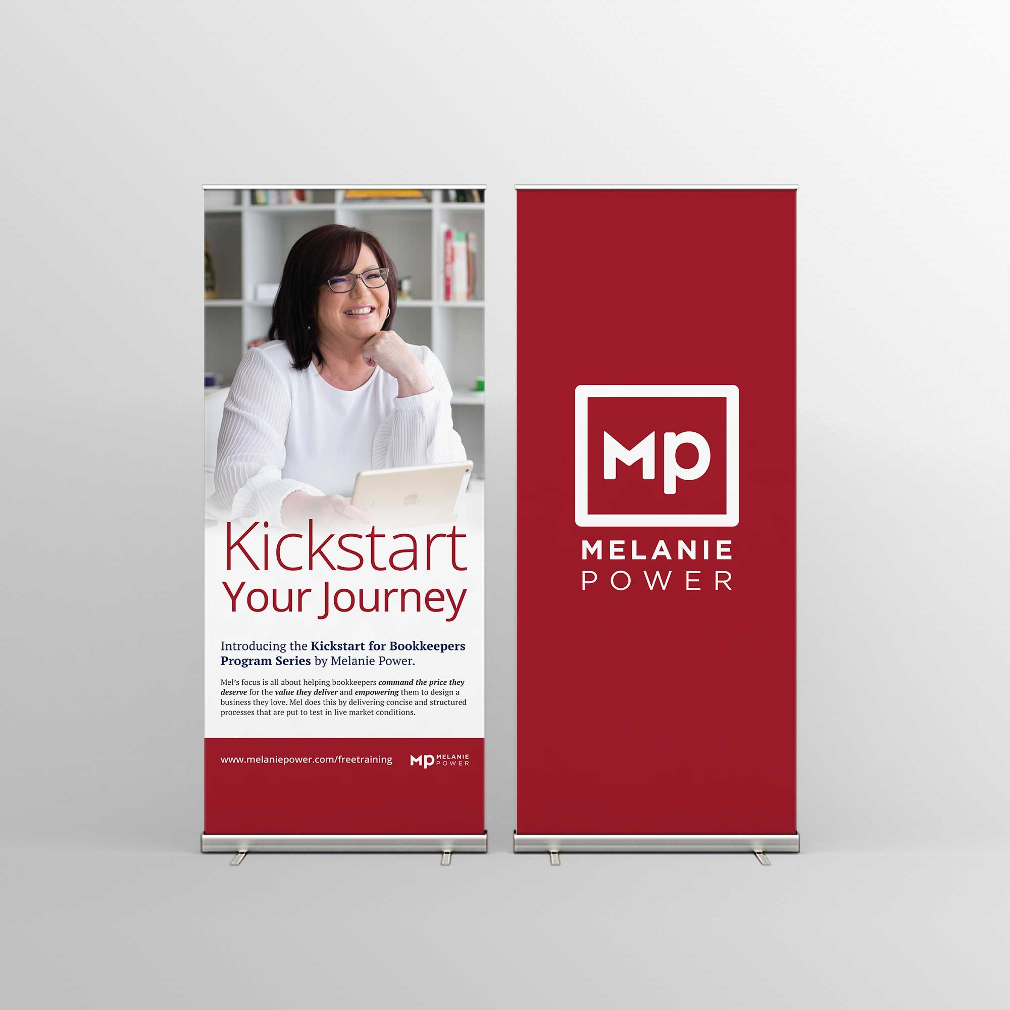 Melanie Power Pull-up Banners