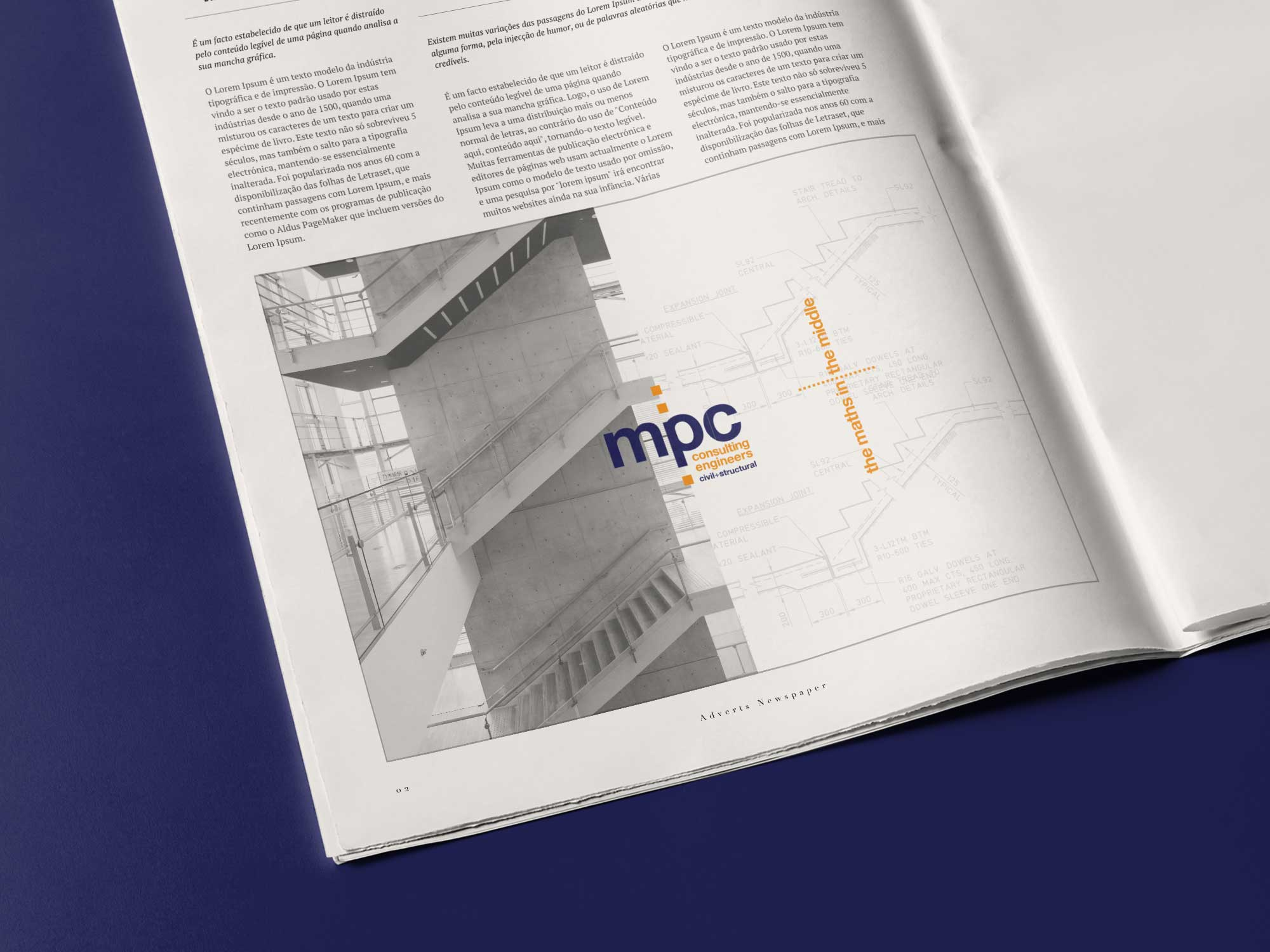 MPC Consulting Engineers Newspaper Advert