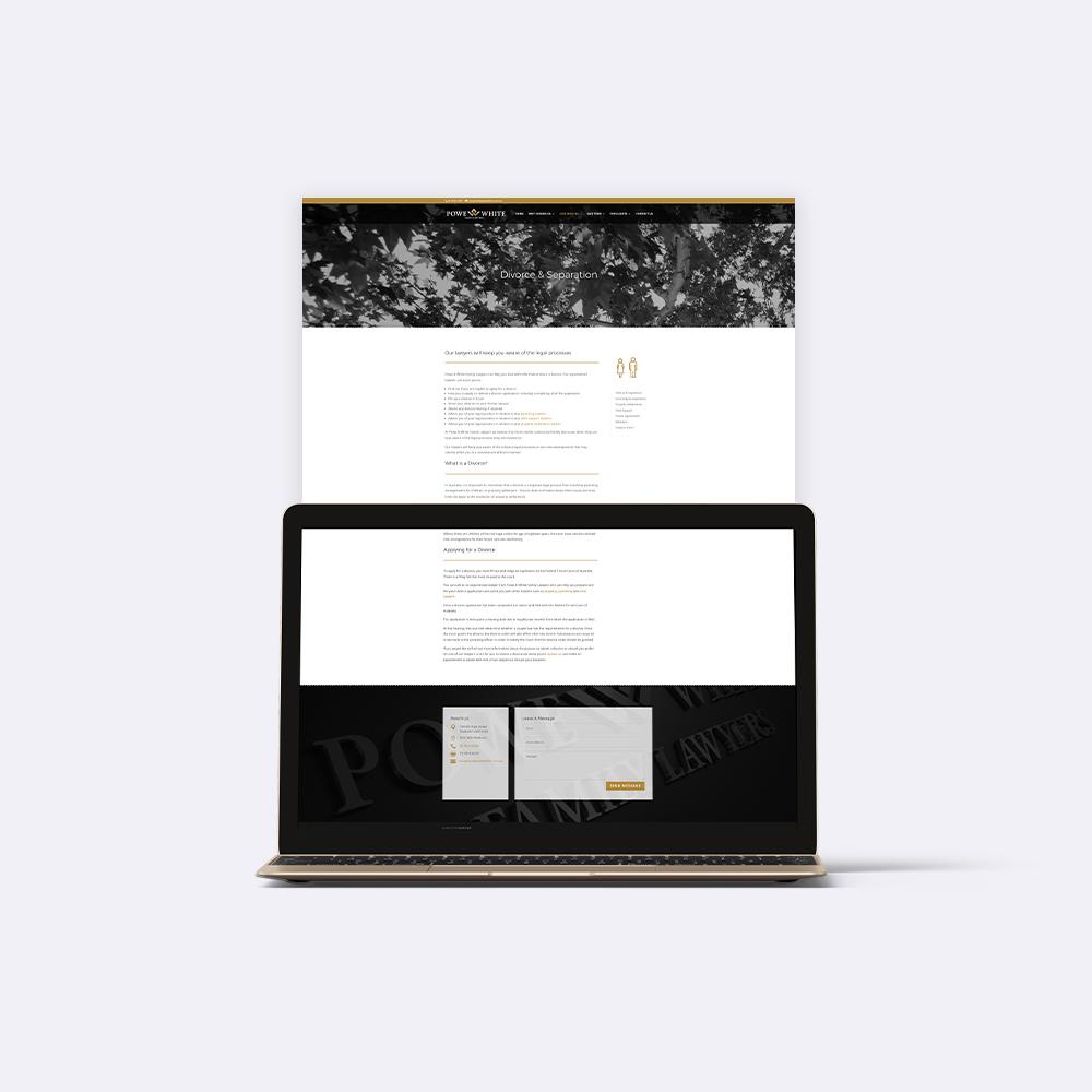 Powe & White Family Lawyers Website