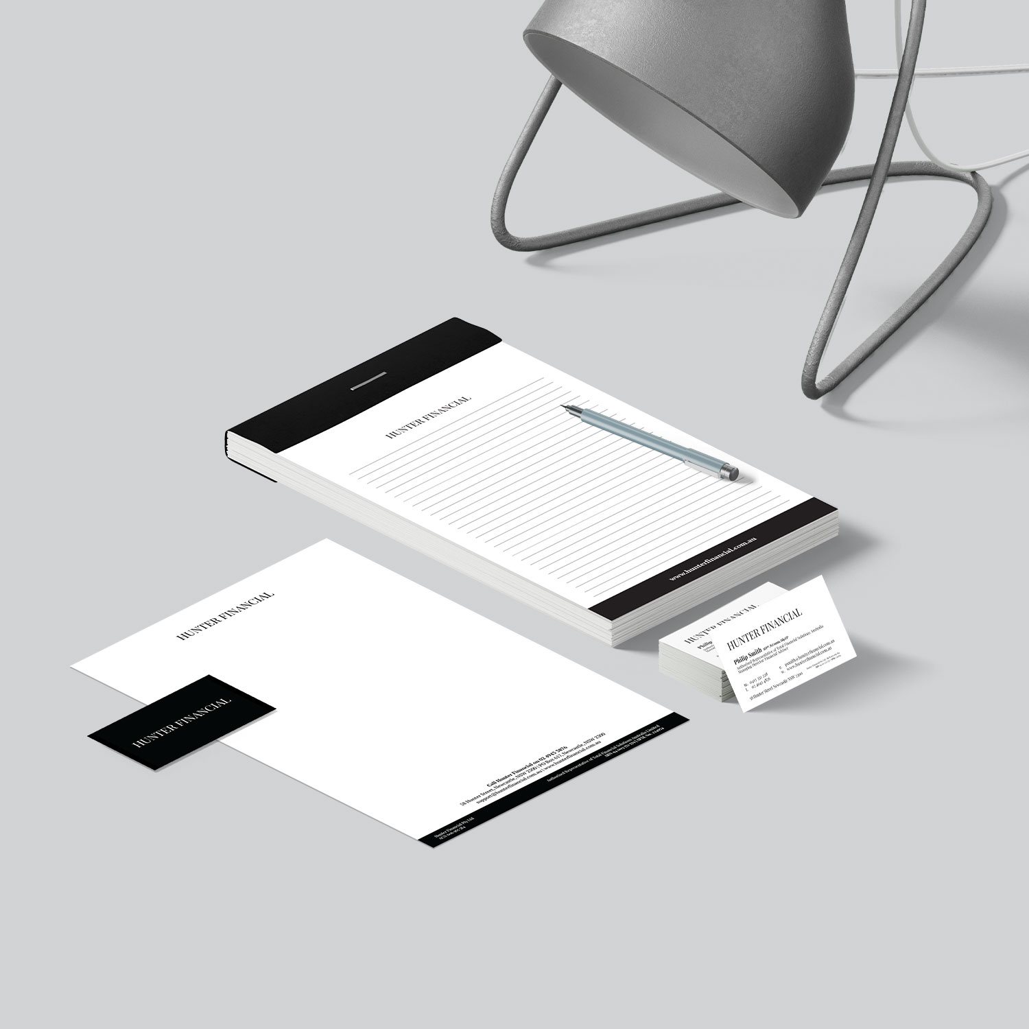 Hunter Financial Stationery