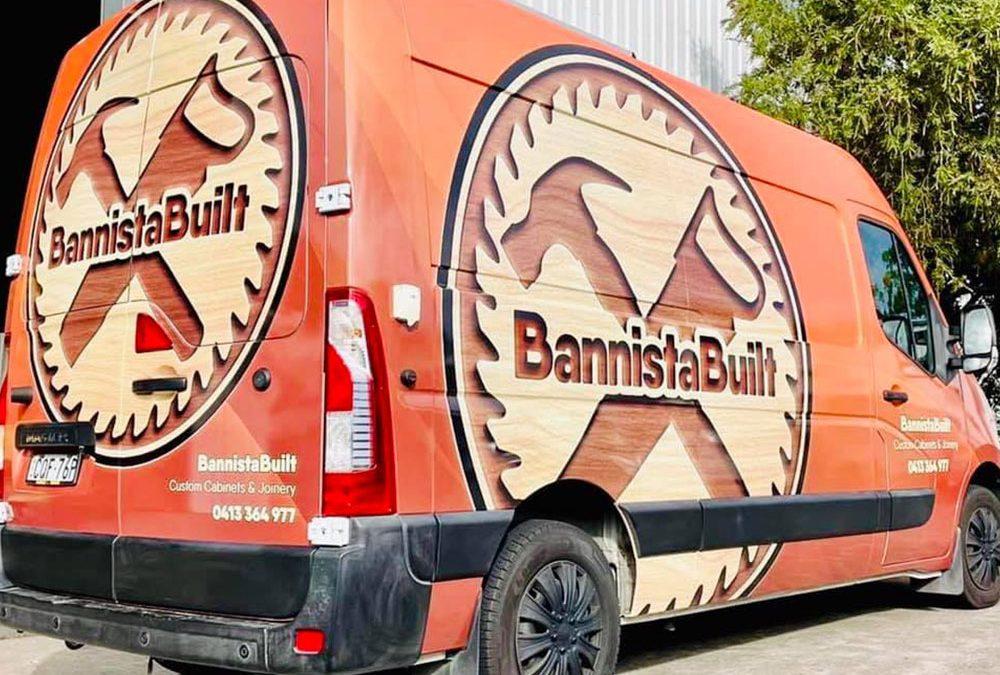 Vehicle Signage Design for Bannista Built
