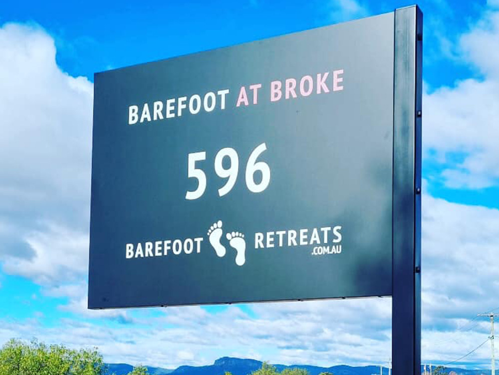 Signage Design for Barefoot at Broke Hunter Valley